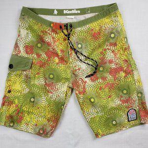 KATIN Custom Surf Trunks Board Shorts Size 30